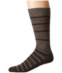 Smartwool Divided Duo Crew Chestnut Men's Crew Cut Socks Shoes Brown