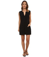 Lauren Ralph Lauren Button Solids Sleeveless Buttron Tunic Cover Up Black Women's Swimwear
