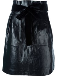 Philosophy Di Lorenzo Serafini Bow Detail Straight Skirt Black