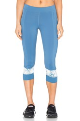 Adidas By Stella Mccartney Run 3 4 Capri Legging Blue