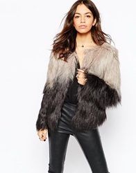 Only Ombre Fur Jacket Grey