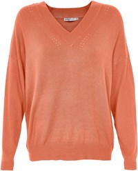 Soaked In Luxury Oversized V Neck Jumper Pink