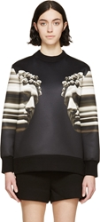Neil Barrett Black Neoprene Twin Statue Sweatshirt