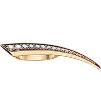 Shaun Leane Sabre 18Ct Rose Gold And Diamond Small Ring