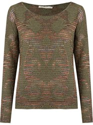 Cecilia Prado Round Neck Knitted Blouse Green