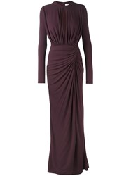 Givenchy Gathered Details Gown Pink And Purple