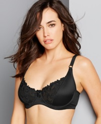 Carnival Full Figure Satin Minimizer Bra 509 Black