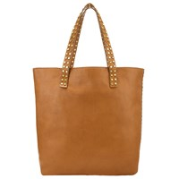 John Lewis Collection Weekend By Memphis Leather Stud Tote Bag Tan