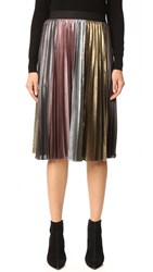 Bcbgmaxazria Metallic Pleated Skirt Metallic Multi