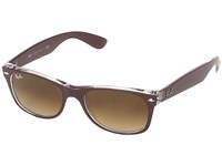 Ray Ban Rb2132 New Wayfarer 52Mm Matte Bordeaux Fashion Sunglasses Black