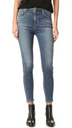 A Gold E Roxanne Super Hi Rise Skinny Jeans Kansas City Clean