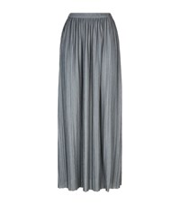 Theory Osyno Pleated Maxi Skirt Female Light Grey