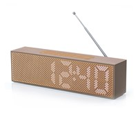 Lexon Titanium Led Clock Radio Soft Gold