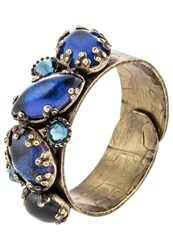 Konplott Jelly Fish Wedding Ring Dark Blue Antique Brass