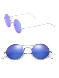 Kyme Ros 49Mm Round Sunglasses Blue