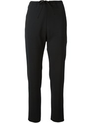 Hache Cropped Trousers Black