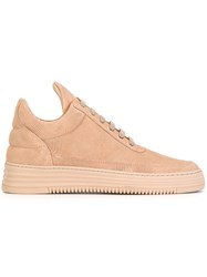 Filling Pieces 'Low Top Monotone Stripe' Sneakers Nude And Neutrals