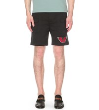 Gucci Butterfly Cotton Twill Cargo Shorts Black