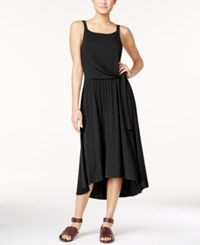 Maison Jules Tie Front Midi Dress Only At Macy's Deep Black