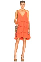 Apiece Apart Canyons Tier Dress In Orange