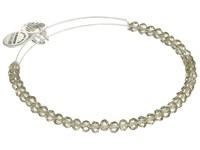 Alex And Ani Crescent Moon Brilliance Beaded Bangle Shiny Silver Bracelet Metallic