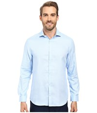 Calvin Klein Long Sleeve Infinite Cool Dobby Twill Shirt Delft Men's Long Sleeve Button Up Blue