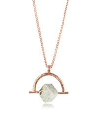 Bjorg Wonder Wander Agate Stone Women's Necklace Pink