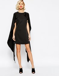 Lavish Alice Cape Overlay Shift Dress Black