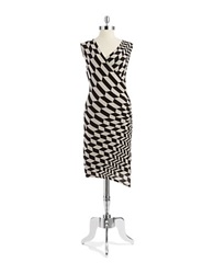 Tracy Reese Checkered Dress Black