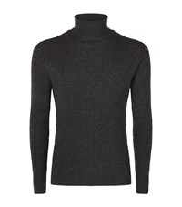 Tom Ford Ribbed Rollneck Jumper Male Dark Grey