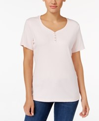 Karen Scott Henley T Shirt Only At Macy's Blush