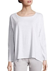 Eileen Fisher Organic Cotton Tee White
