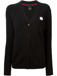 Marc By Marc Jacobs Smiley Face Aplique Cardigan Black
