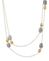 Marco Bicego 18K Yellow Gold And Chalcedony Siviglia Necklace 36 Bloomingdale's Exclusive Blue Gold