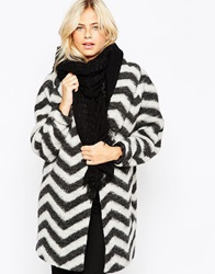 Oasis Oversized Textured Woven Scarf Black
