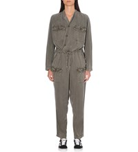 Nsf Wrap Front Overalls Pigment Od Green