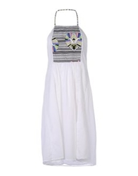 Lalesso Knee Length Dresses White