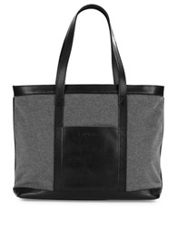 Sorel Leather Trimmed Wool Tote Black