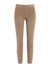Brunello Cucinelli Suede Leggings Brown