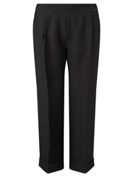 Jigsaw Etched Crop Trouser Black