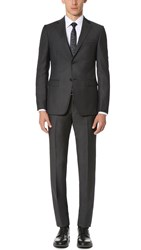 Z Zegna Drop 8 Wool Mohair Blend Suit Grey