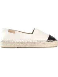 Mint And Rose Contrasting Toe Cap Espadrilles Nude And Neutrals