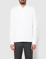 Beams Plus B Trapper Henley In White