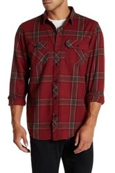 Tavik Vincent Plaid Long Sleeve Signature Slim Fit Shirt Brown