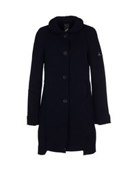 Tanomu Ask Me Coats And Jackets Coats Women Dark Blue