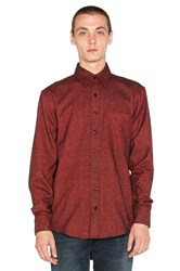 Raised By Wolves Shetland Button Down Red