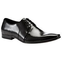 Dune Acid Patterned Patent Shoes Black