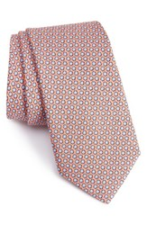 Vineyard Vines Men's Seashell Print Silk Tie Peach