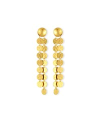 24K Lush Double Disc Drop Earrings Gurhan Gold