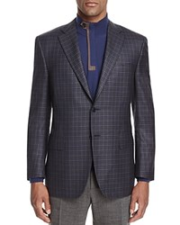 Canali Check Classic Fit Sport Coat Black